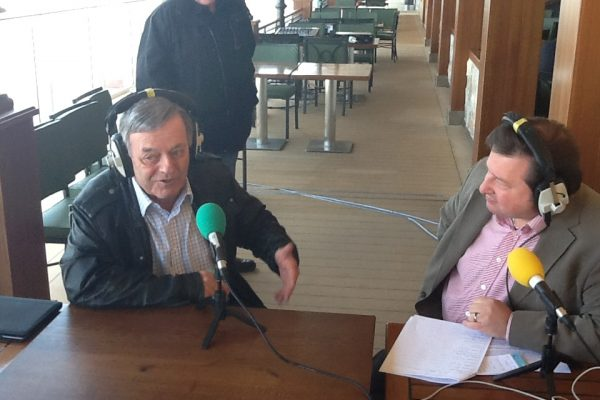 Ally with Tony Blackburn aboard the Breakaway